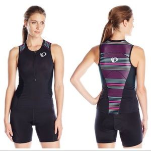 Pearl Izumi ELITE PURSUIT TRI TANK BLACK STRIPE